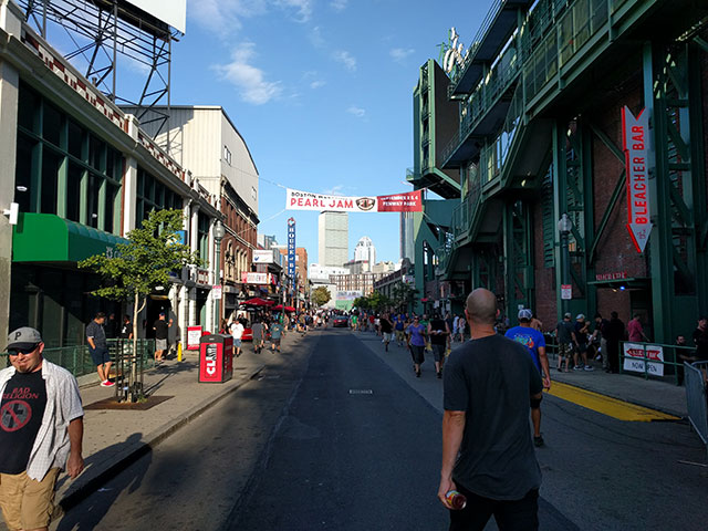On the way to the Cheeky Monkey Brewing Company on Lansdowne Street, Boston, MA, just outside of Fenway Park