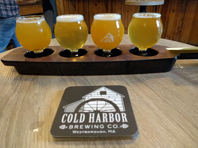 Cold Harbor Brewing Beer Flight