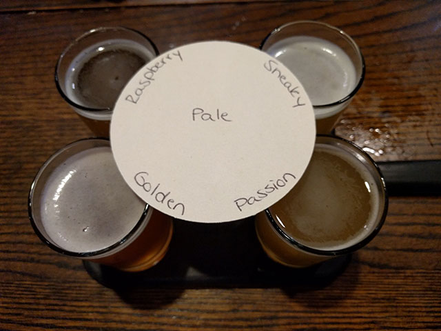 Sample John Harvard's ales with a beer flight