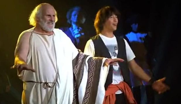 Ted and Socrates at the history report